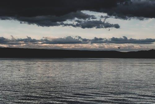 Szenisches Foto Des Meeres Während Der Morgendämmerung