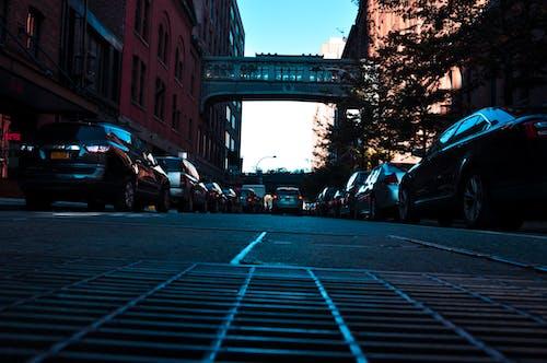 Ingyenes stockfotó forgalmas utca, hidak, New York, skyscapers témában
