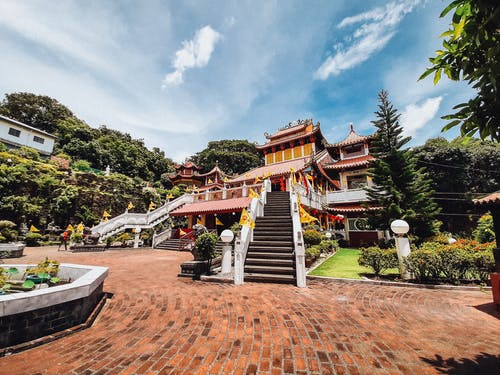 Free stock photo of Chinese temple, landscape, Ma-Cho Temple