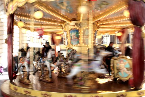 Free stock photo of carousel, child, color, fun