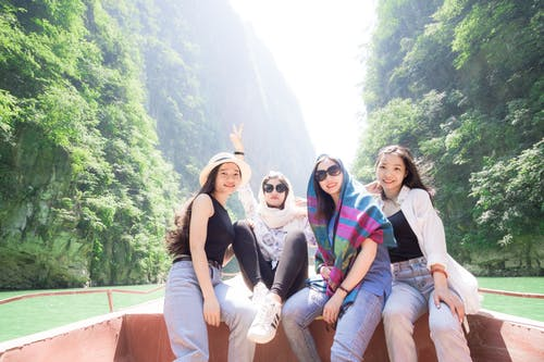 Free stock photo of asian girls, green, mountain, peoples