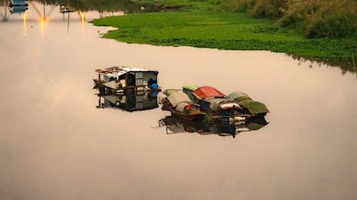 ベトナム, ロンビエン橋, 漁村の無料の写真素材