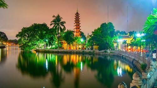 トランコックパゴダ, パゴダ, ベトナム, 仏教の無料の写真素材