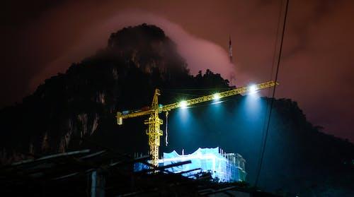 ピンク, 作業, 光, 夜の無料の写真素材