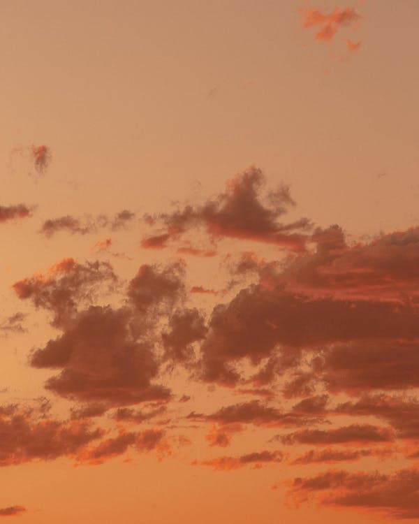 magická hodina, mraky, oblaky
