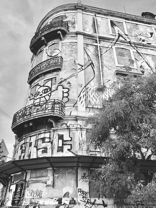 Foto profissional grátis de arte de rua, Lisboa, P&B