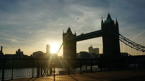 Kostenloses Stock Foto zu brücke, london, sonnenuntergang, turm brücke