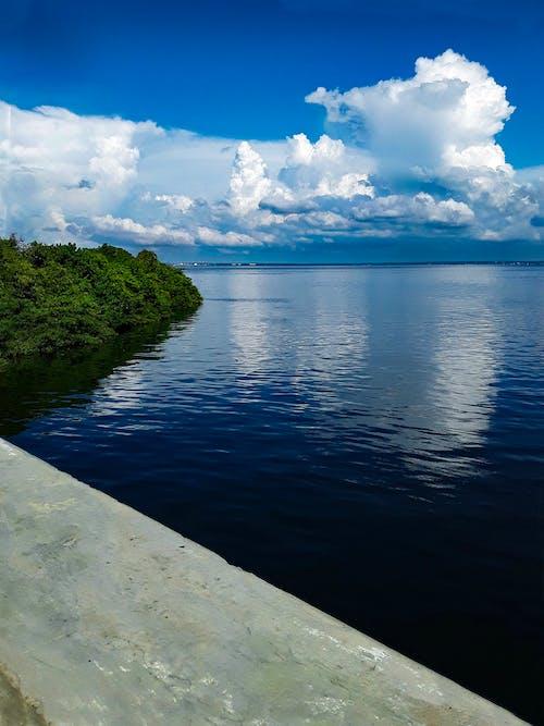 Free stock photo of bridge, clouds, lake