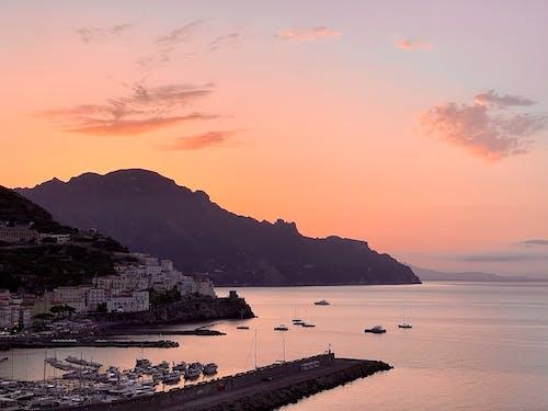 Free stock photo of amalfi, amalfi coast, beautiful sky, colorful