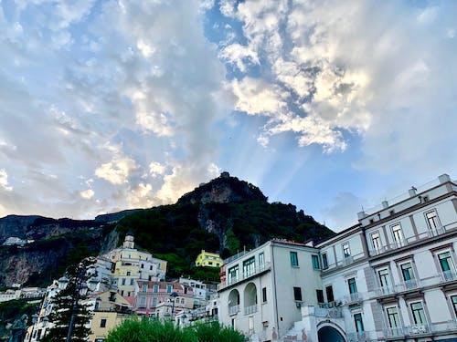 Ảnh lưu trữ miễn phí về amalfi, bầu trời tươi đẹp, bờ biển Amalfi, bờ biển Amalfi