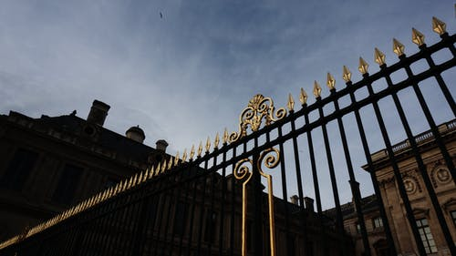 Free stock photo of fence, gold, paris, sky