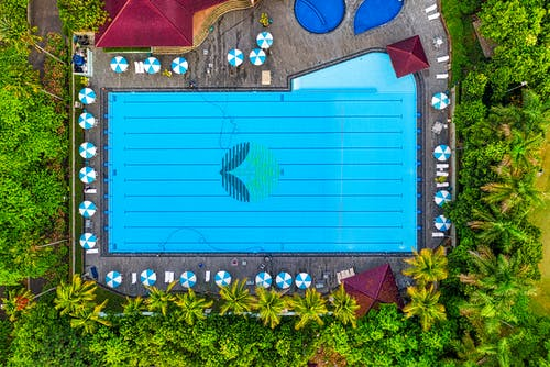 Top View Photo of Swimming Pool