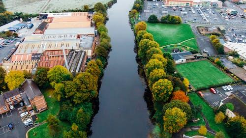 Bird's Eye View Of River During Daytime