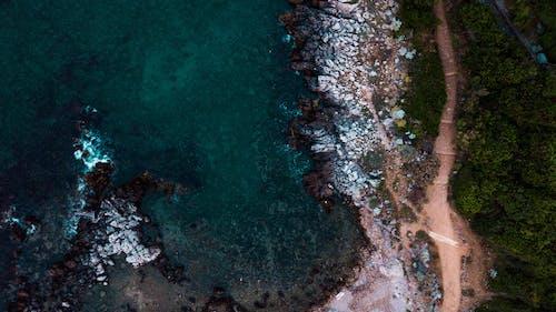 ドローン写真, ドローン撮影, ハイアングルショット, ビーチの無料の写真素材