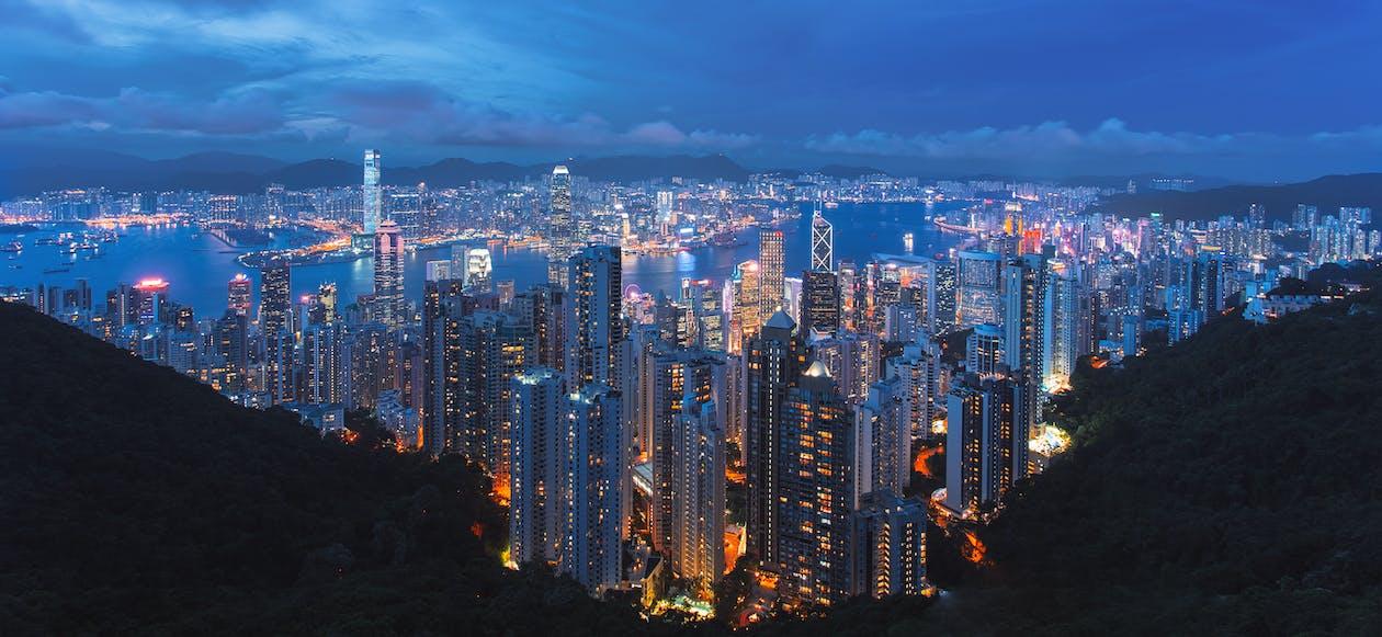 商業, 城市, 城市之夜 的 免費圖庫相片