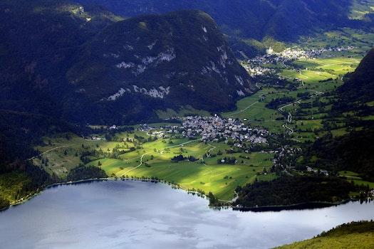Free stock photo of landscape, mountains, lake, slovenia