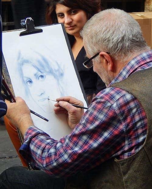 Immagine gratuita di arte di strada, artisti di strada, foto, pittore