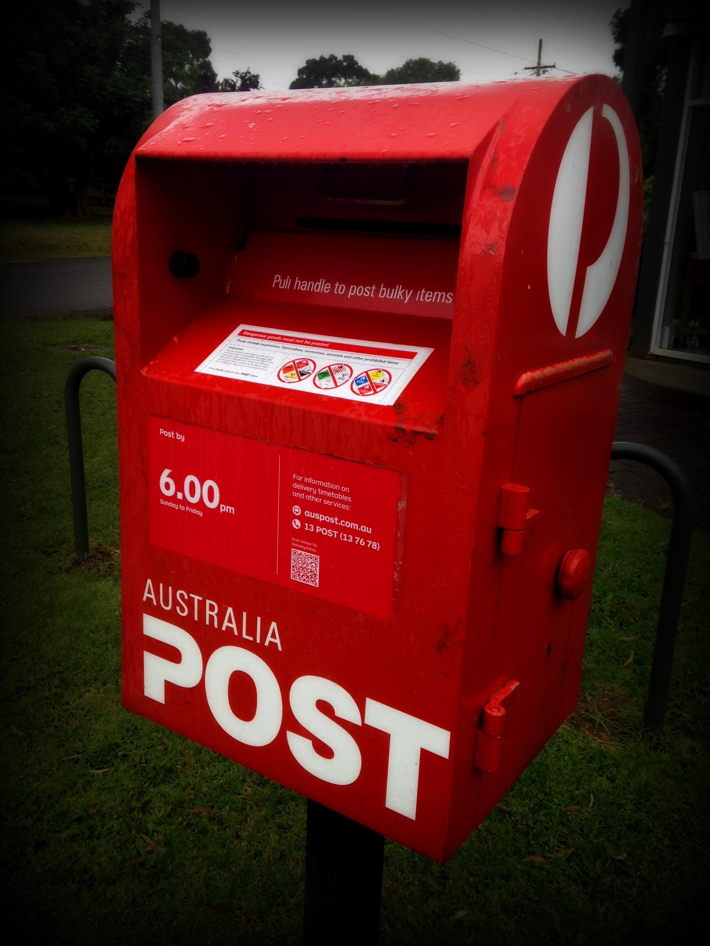 Free stock photo of australia, post, post box