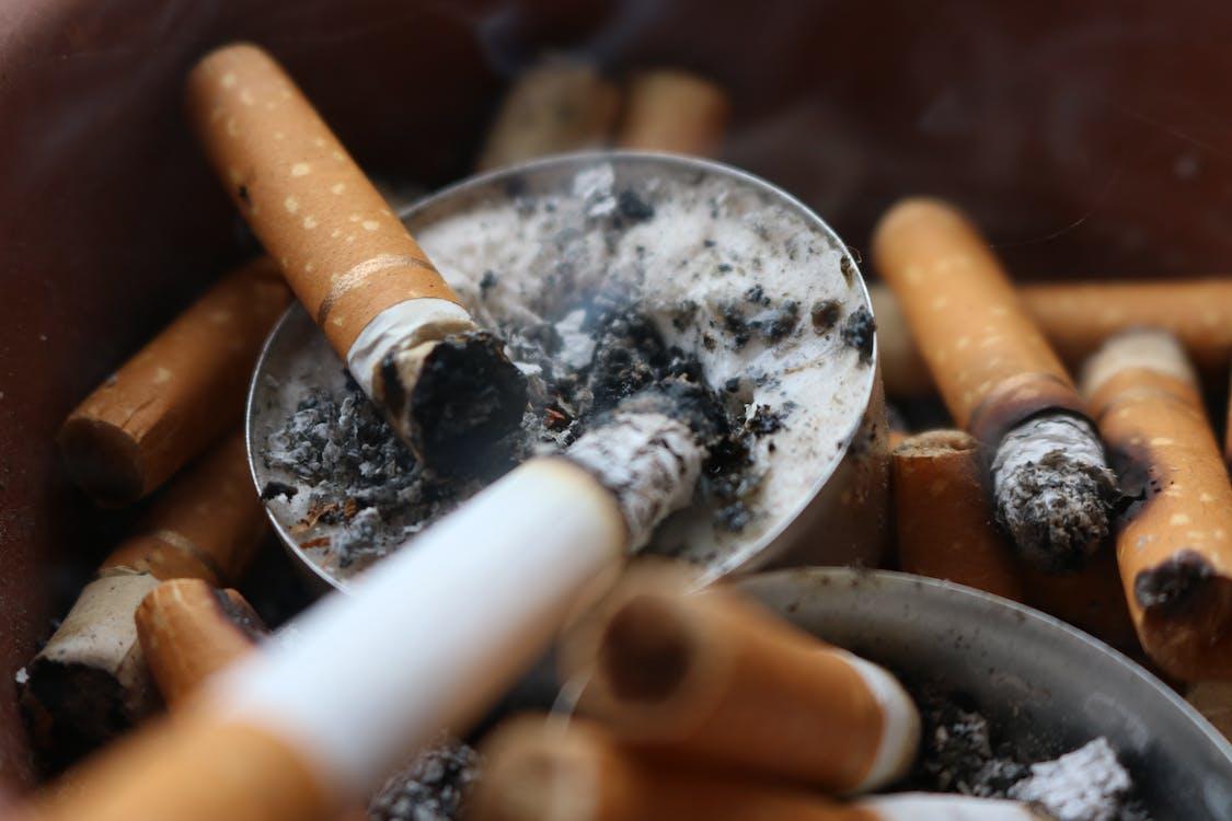 ashes, cigarette, cigarette butt