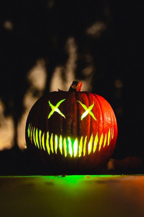 Foto profissional grátis de abóbora, abóbora de Dia das Bruxas, abóbora de Halloween, abóbora esculpida