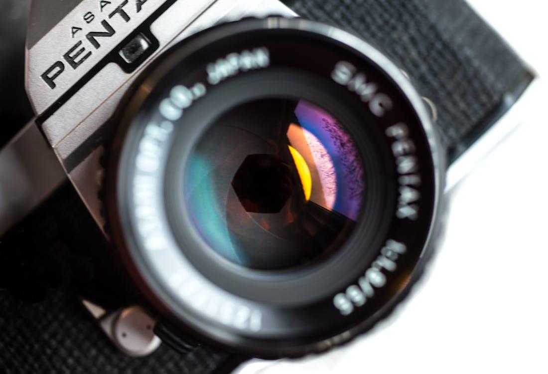 analog, blænde, close-up