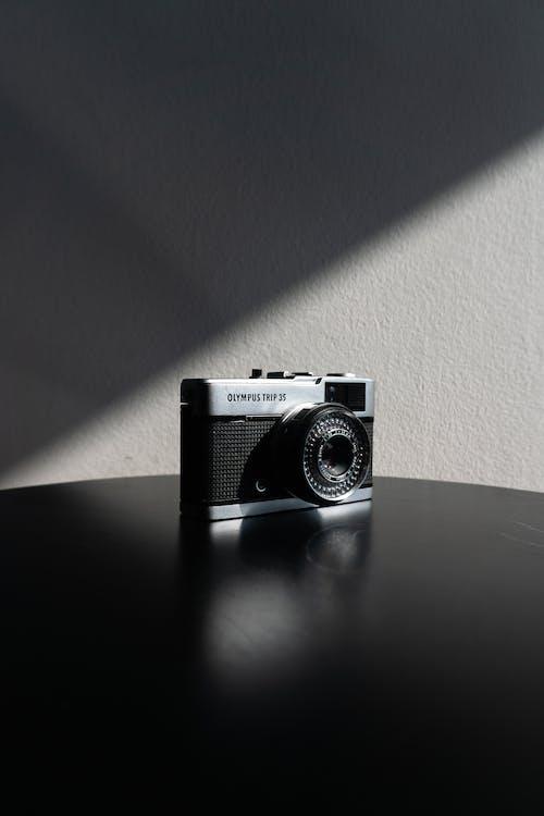 Grey and Black Camera