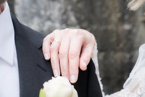 Woman Wearing Wedding Band