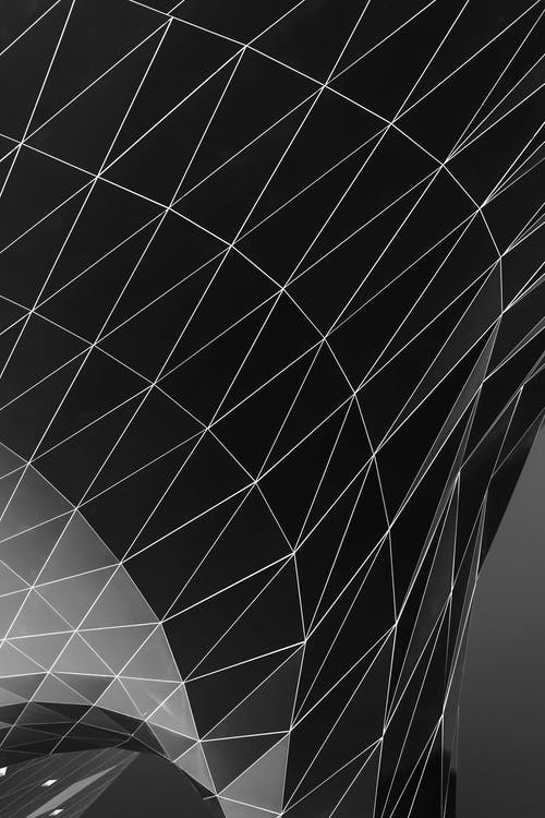 Monochrome Photo of Triangle Shape Digital Wallpaper