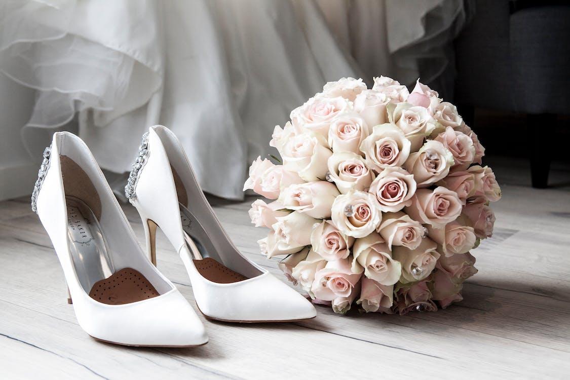 blanc, bouquet, célébration