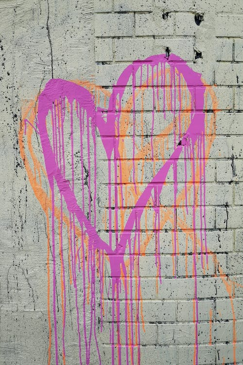 Fotos de stock gratuitas de corazones, goteo, pared de ladrillo