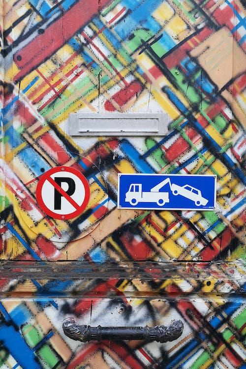 Fotos de stock gratuitas de fondo colorido, no estacionar