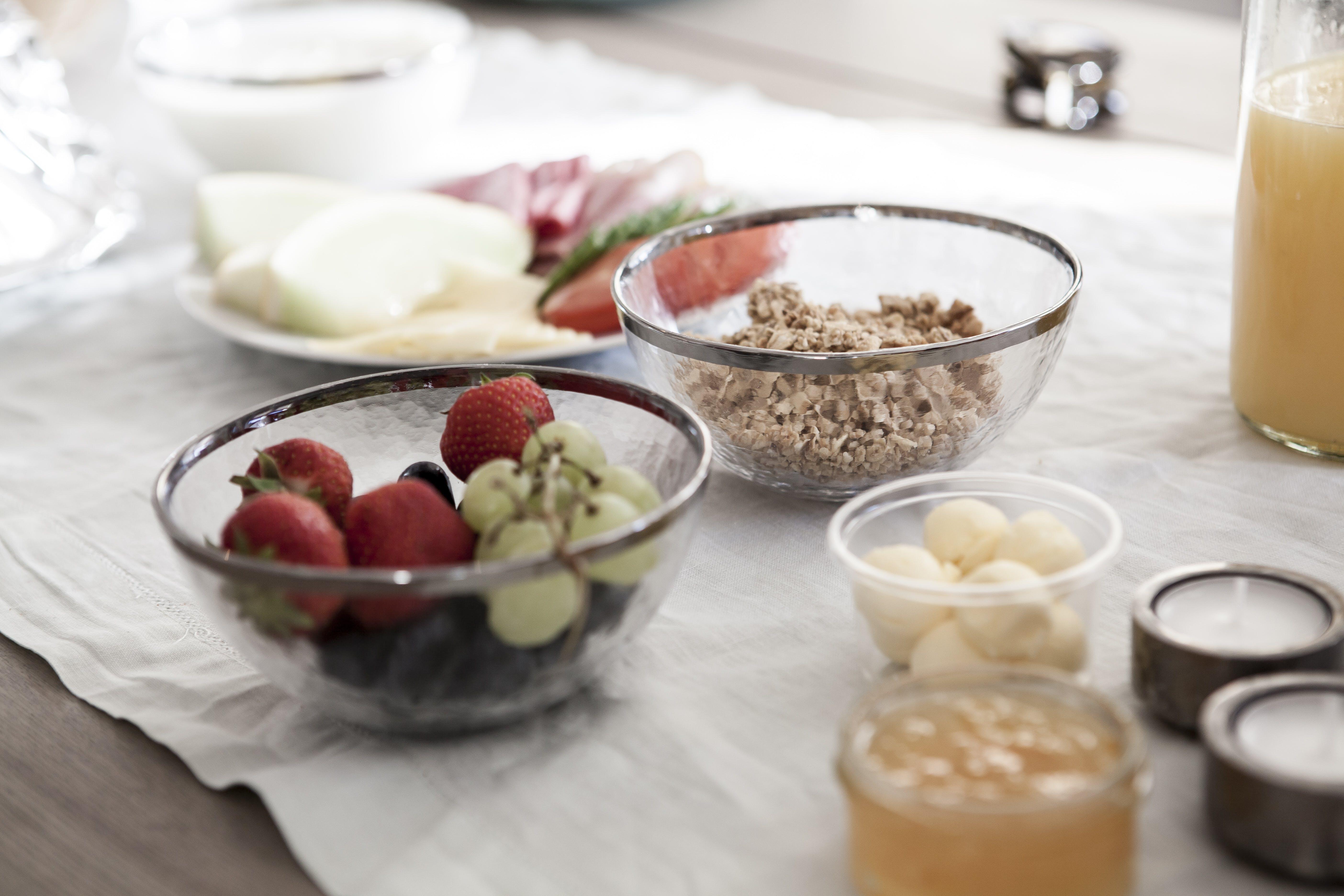 berries, blur, bowls