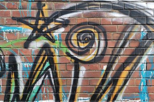 Free stock photo of brick wall, detail, graffiti