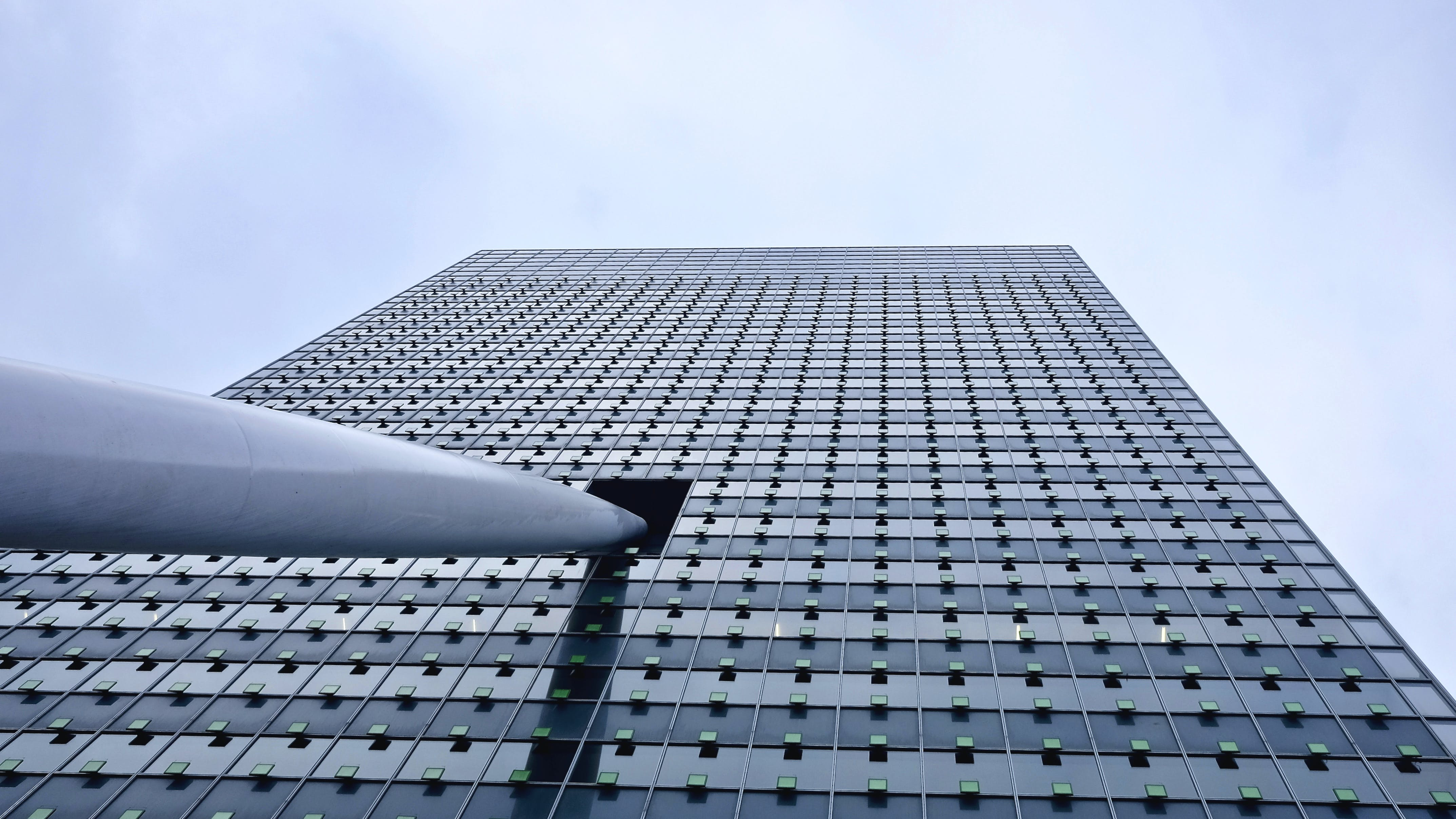 Close-up of Modern Office Building Against Sky