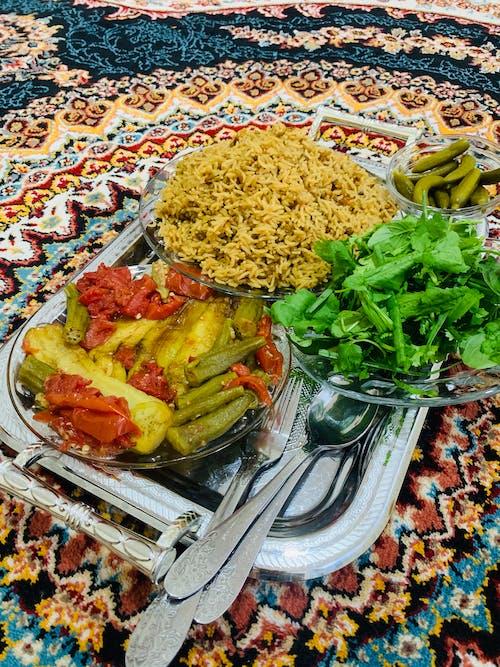 新鮮蔬菜, 有机食品, 烹飪, 白米 的 免费素材照片