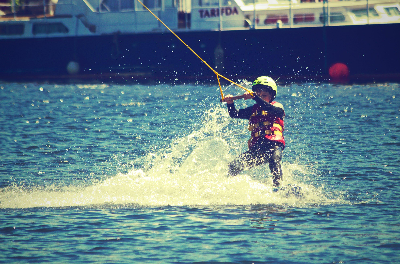 Free stock photo of fun, adventure, boy, water-ski