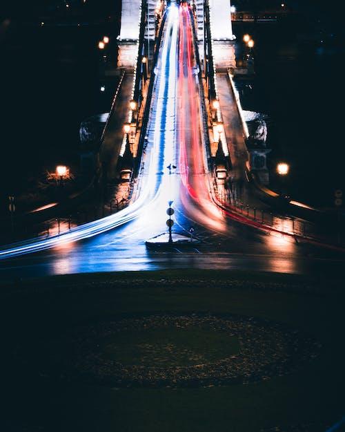 Δωρεάν στοκ φωτογραφιών με Βουδαπέστη, γέφυρα αλυσίδας, μακρύς εκθέτης