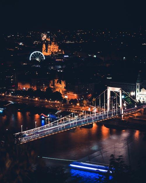 Δωρεάν στοκ φωτογραφιών με Βουδαπέστη, γέφυρα, Δούναβης, κίνηση