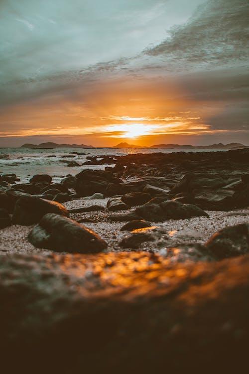 Gratis lagerfoto af efterglød, gylden time, himmel, horisont