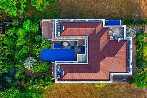 Top View Photo of House
