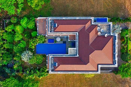 Foto stok gratis Arsitektur, atap, dari atas, fotografi drone