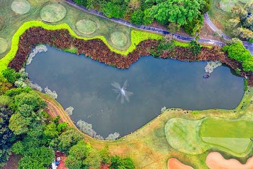 Foto stok gratis air, danau, dari atas, fotografi drone