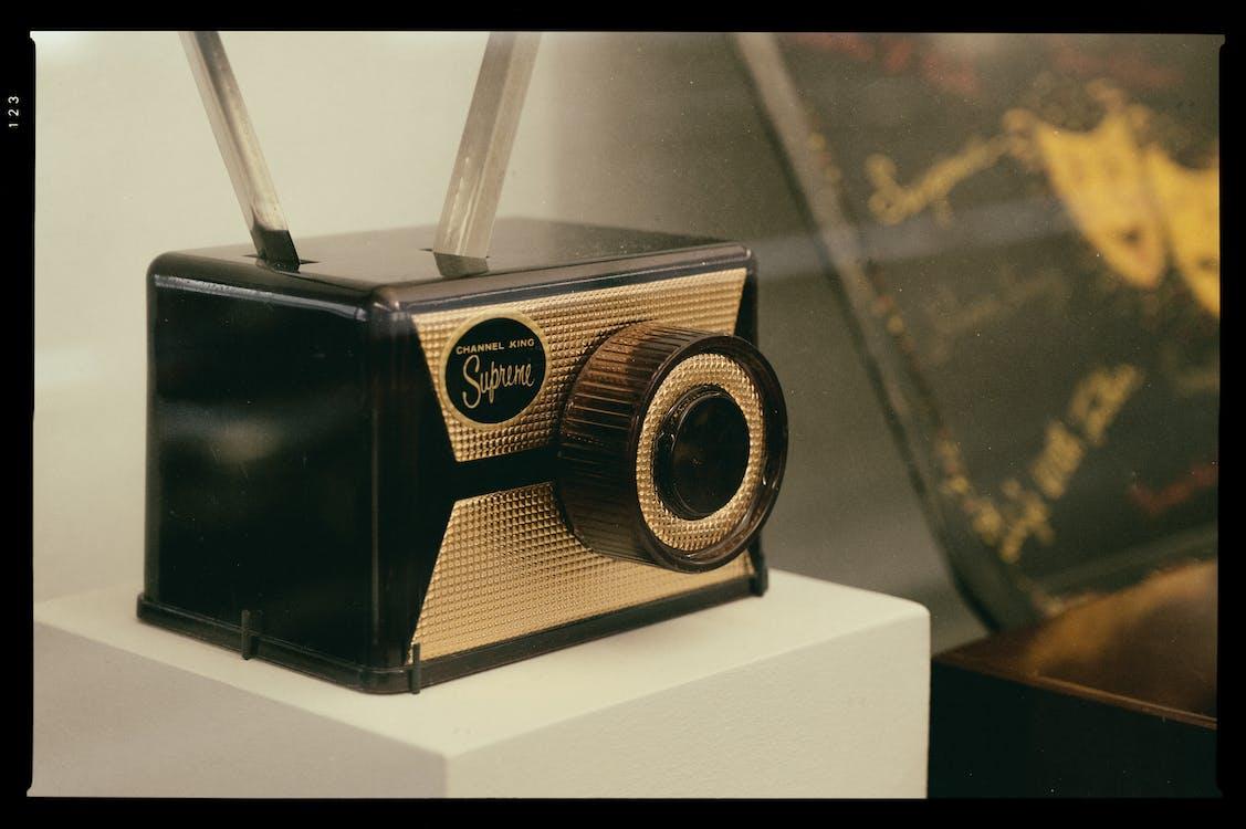 Brown and Black Radio