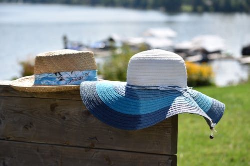 Free stock photo of beach hat, beachlife, hat, his and hers