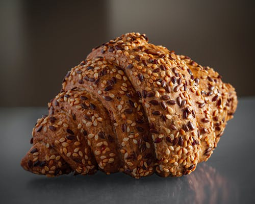 Croissant Bread With Sesame Seeds