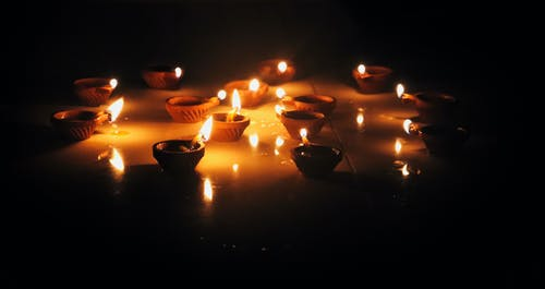 Free stock photo of Candlelights, Diwali