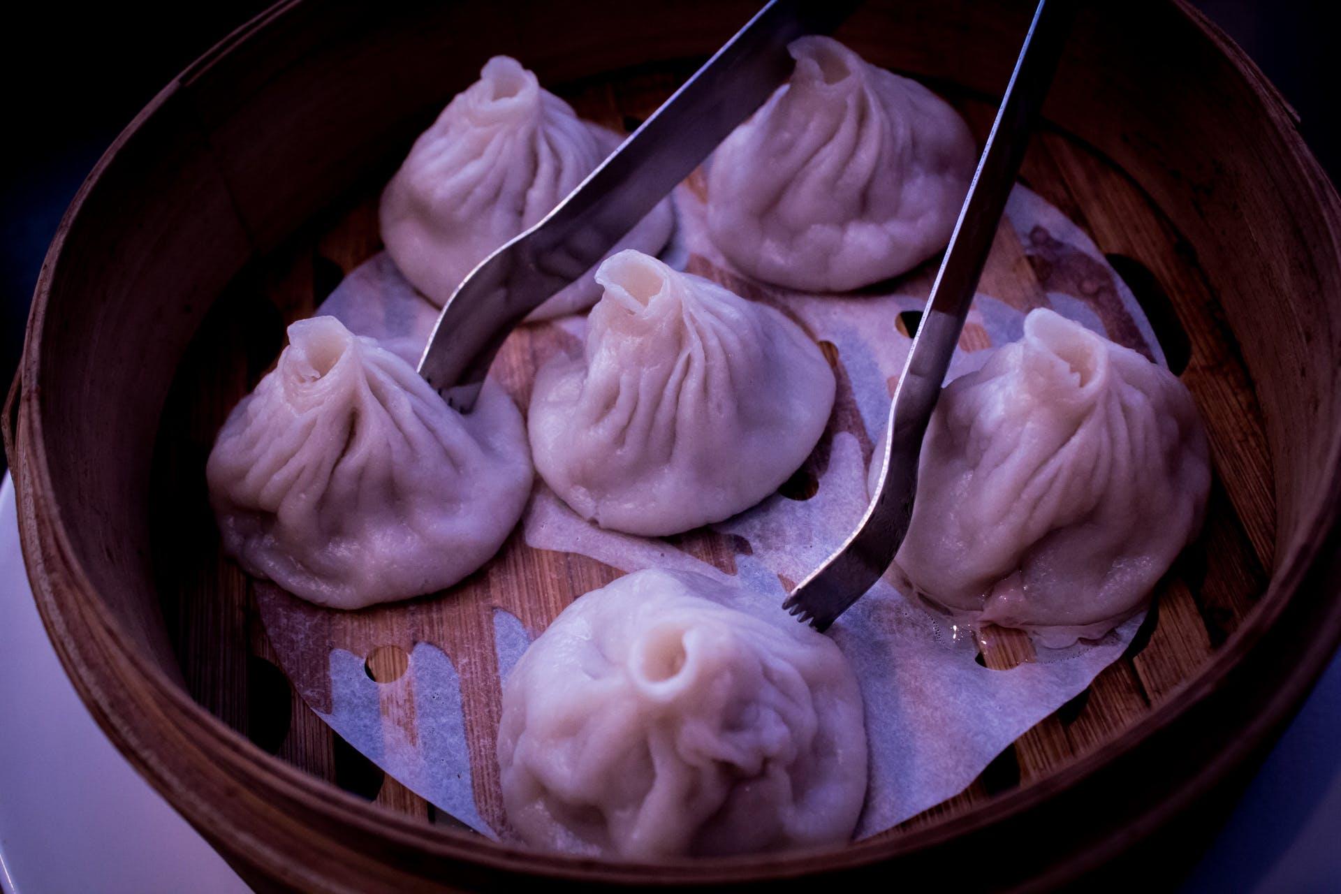 Free stock photo of steamed dumplings