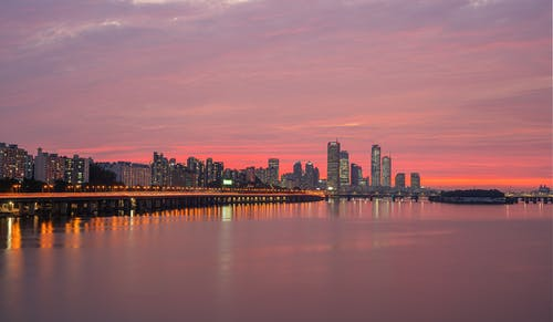 Foto stok gratis Asia, Korea, malam, matahari terbenam