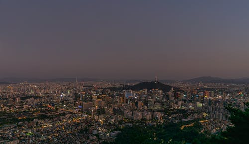 Foto stok gratis Asia, gunung, Korea, malam