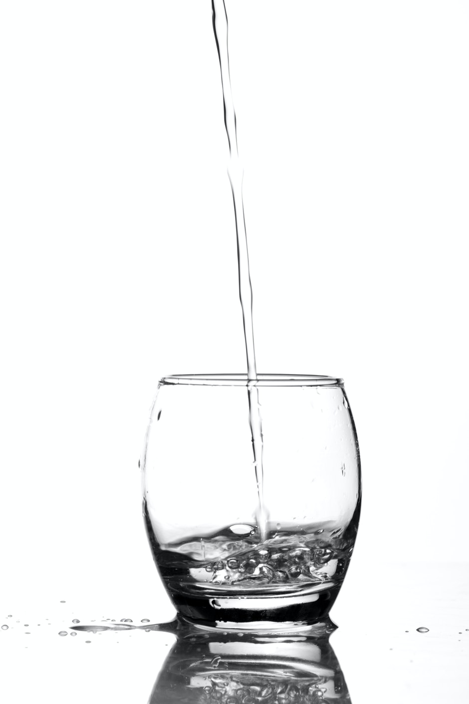 Close-up of Water Pouring in Glass